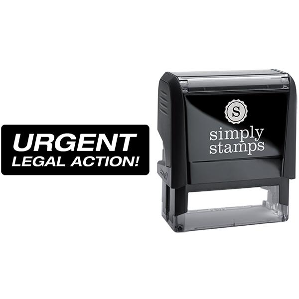 Urgent Legal Action Business Stamp