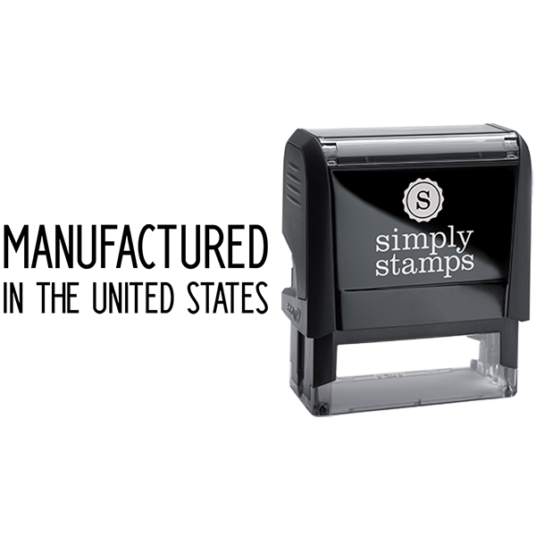 Manufactured in the US Business Stamp