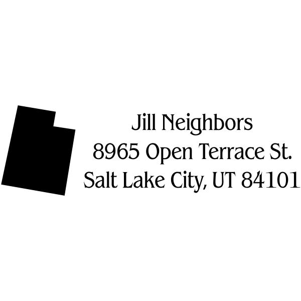 Utah Return Address Stamp