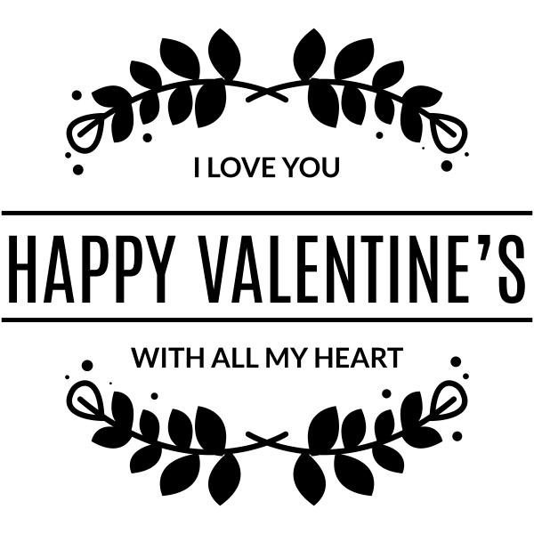 Happy Valentines All My Heart Craft Stamp