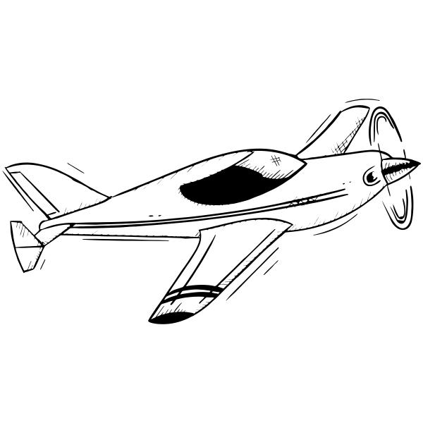 Vintage Aeroplane Craft Stamp