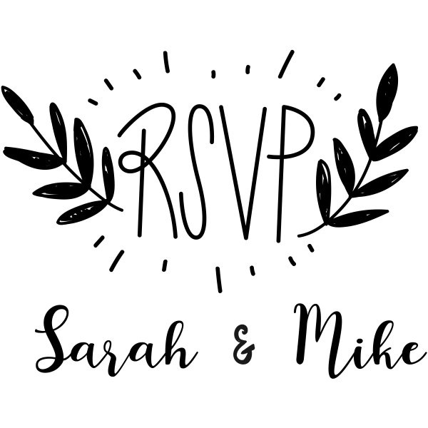 Custom RSVP Wedding Craft Stamp