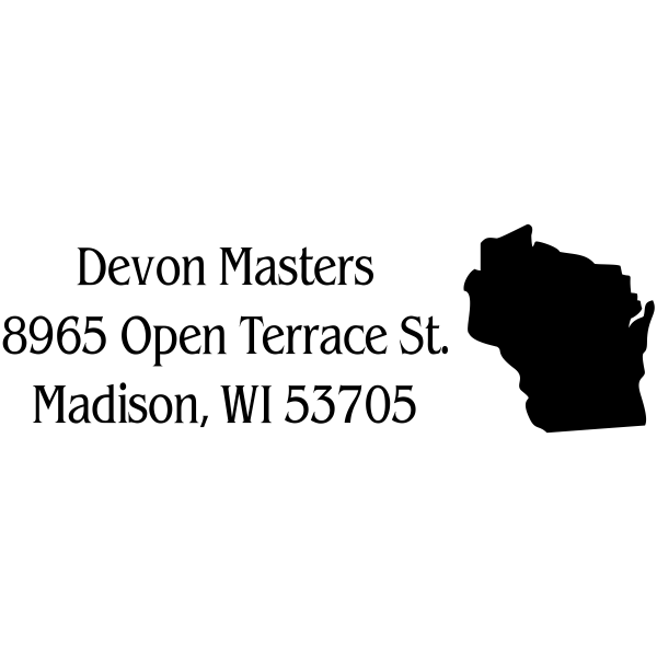 Wisconsin Return Address Stamp