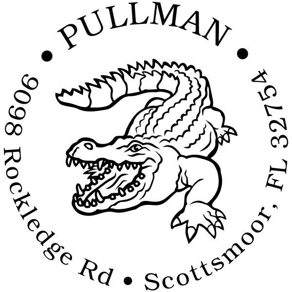 Alligator Return Address Stamp