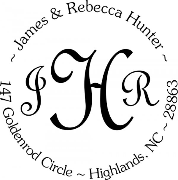 Monogram round address stamper