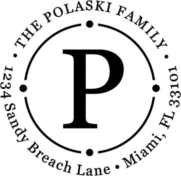 Polaski Orbit Custom Return Address Stamper