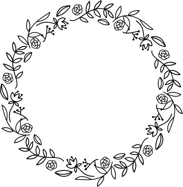 Floral Wreath Stamp