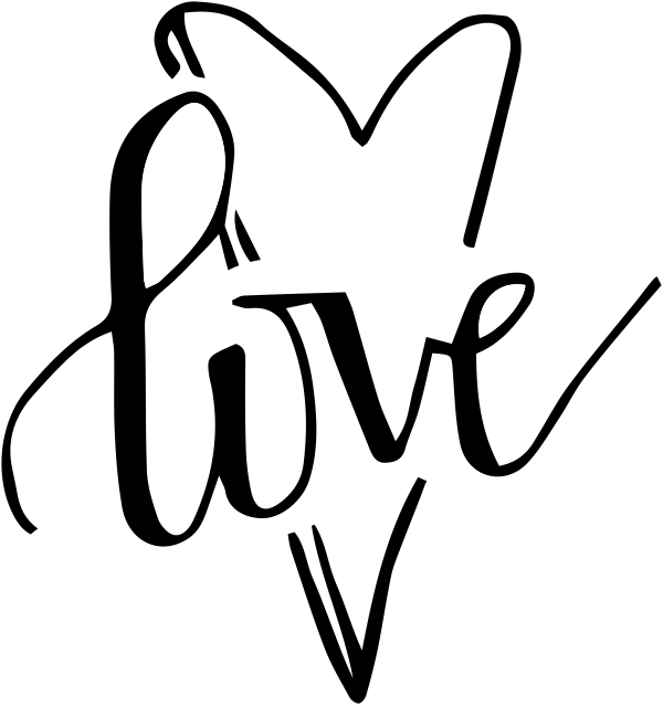Hand Lettered Love Heart Stamp