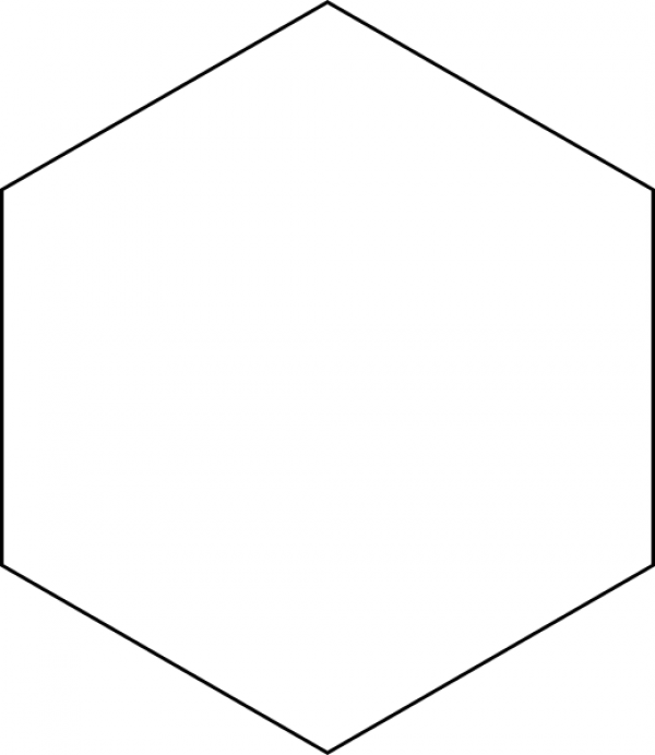 Blank Hexagon Journal Stamp