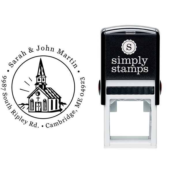 Church Building Address Stamp Body and Design