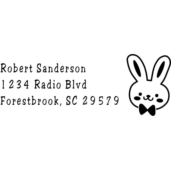 Easter Bunny Return Address Stamp