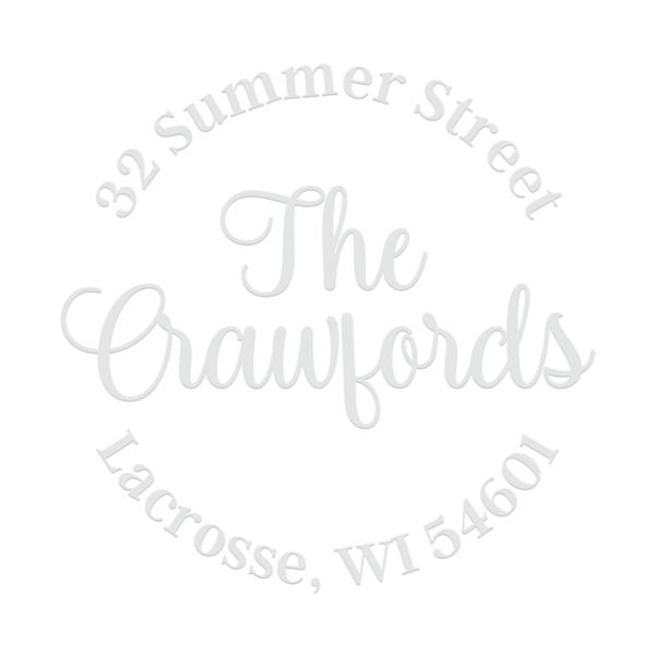 Crawford Script Address Embosser