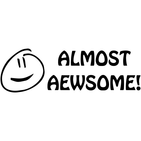 Feedback - Smiley Face ALMOST AEWSOME Rubber Teacher Stamp