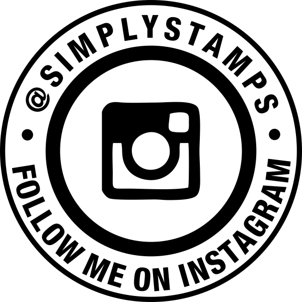 Follow Me On Instagram Handle Round Stamp