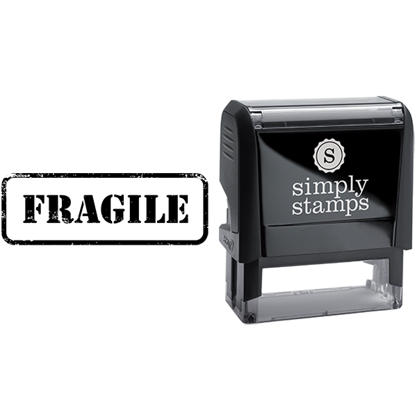 Fragile in Army Stamp Lettering Business Stamp