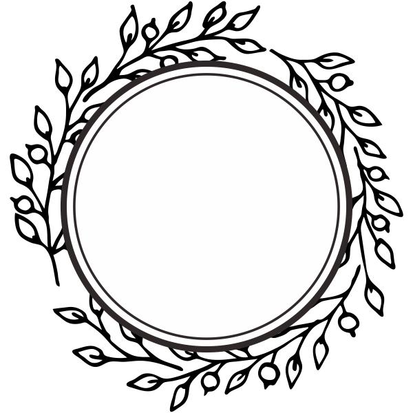 Framed Wreath Stamp