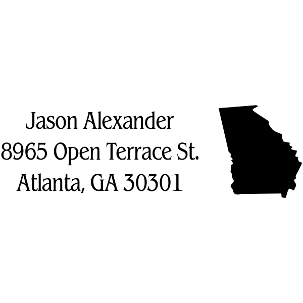 Georgia Return Address Stamp