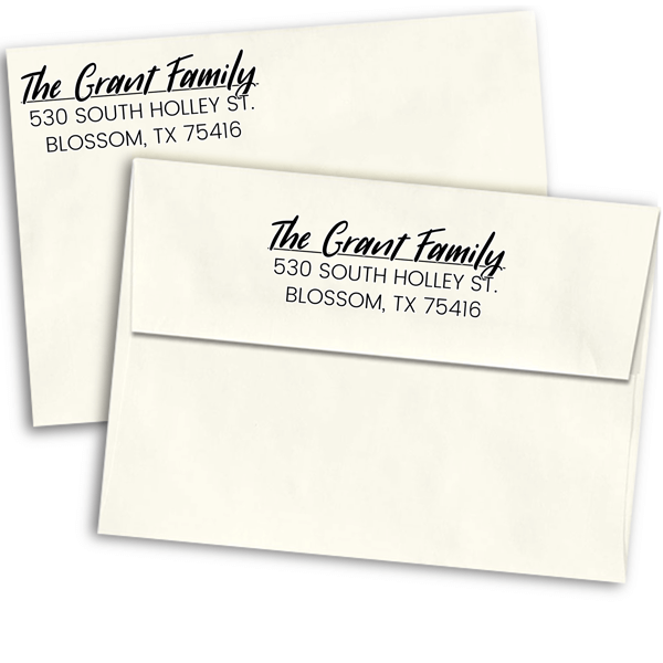 Grant Italic Return Address Stamp