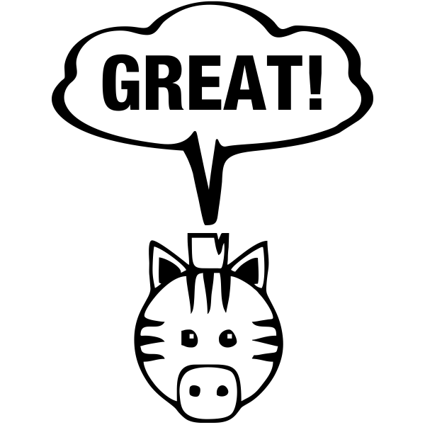 Great Zebra Teacher Stamp