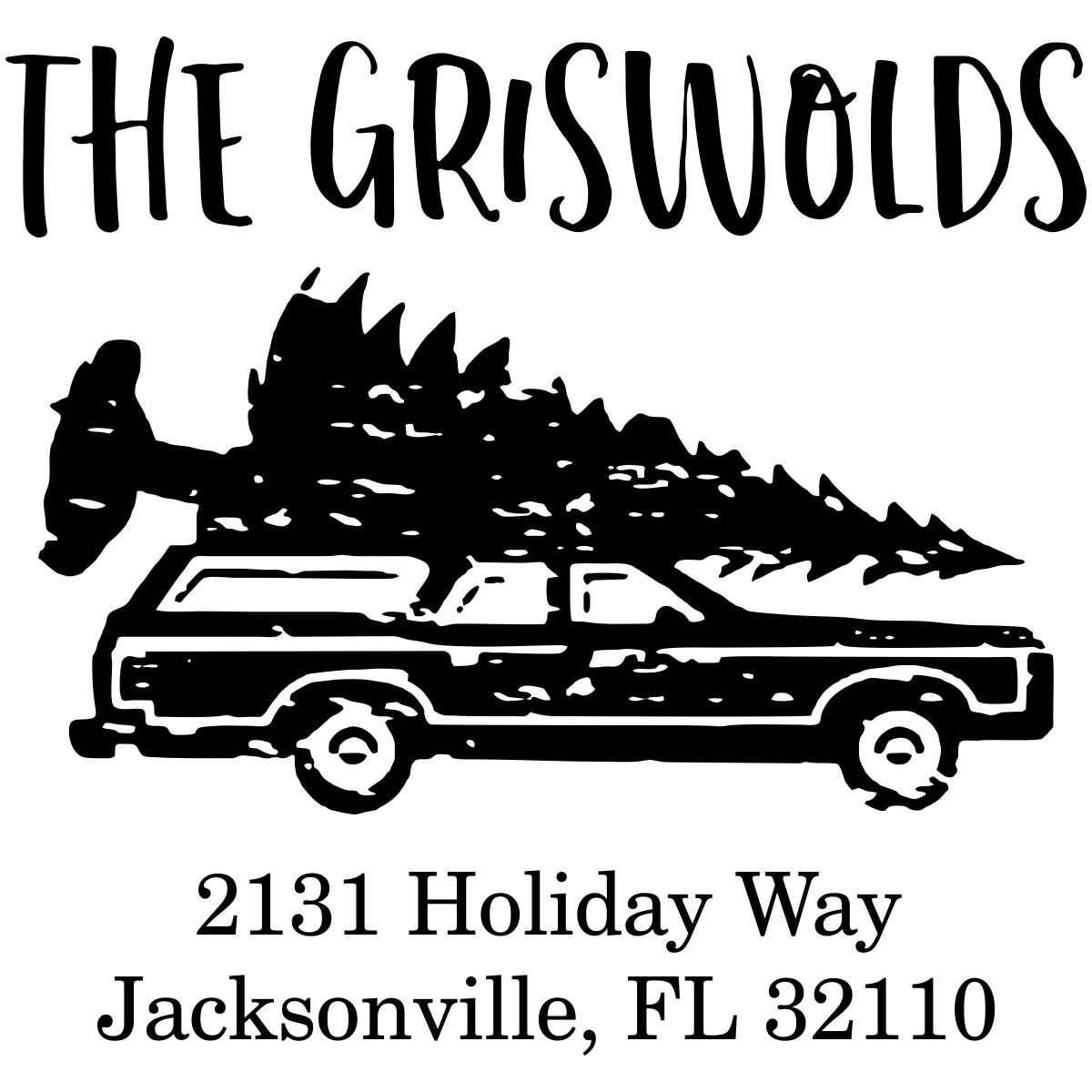 Griswold Holiday Return Address Stamp