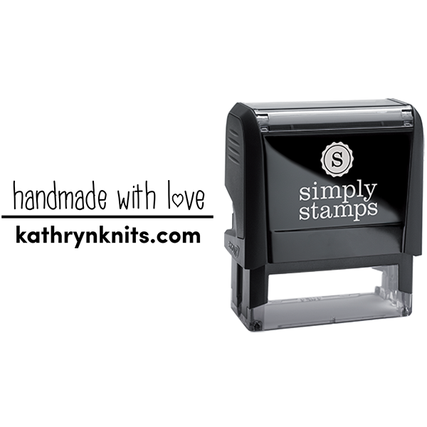 Handmade with Love Custom Name Business Stamp