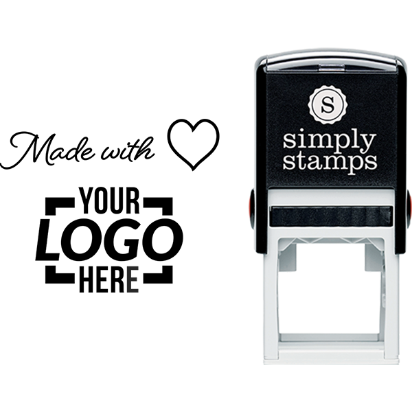 Made with Love with Custom Logo Business Stamp