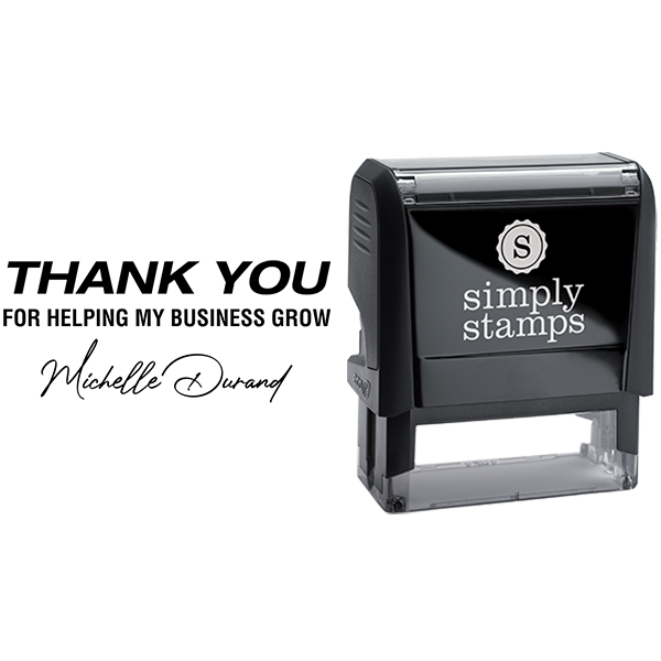 Thank You for Helping My Business Grow Business Stamp