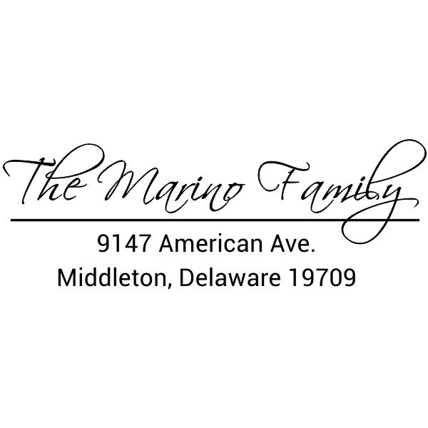 Marino Family Handwritten Address Stamp