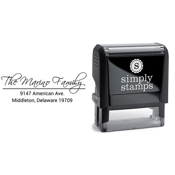 Marino Family Handwritten Address Stamp Body and Design
