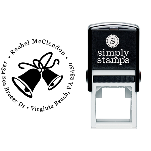 Double Bells Return Address Stamp Body and Imprint