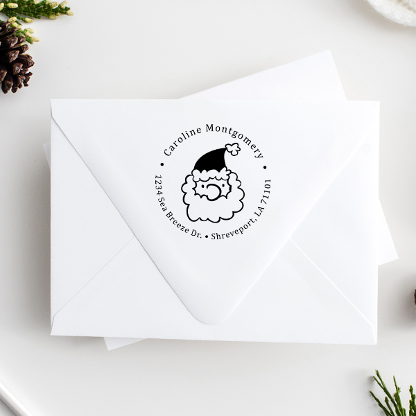 Montgomery Santa Claus Return Address Stamp Imprint Examples on Envelopes
