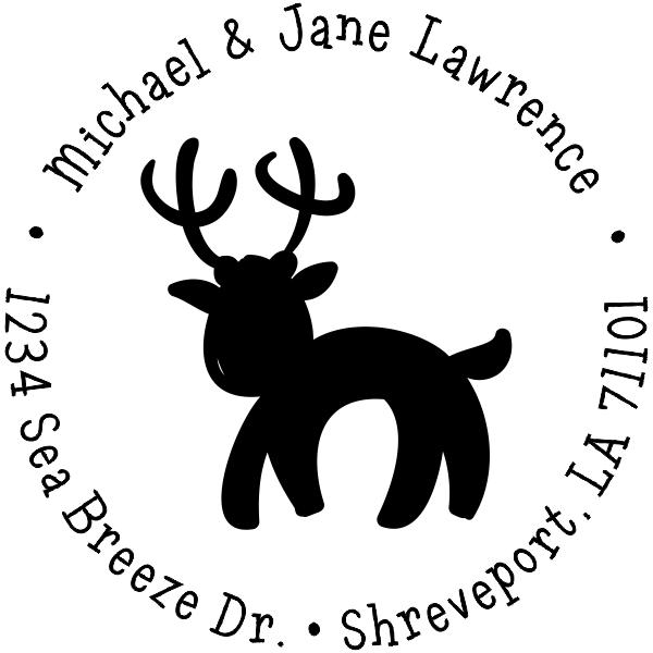 Lawrence Reindeer Custom Return Address Stamper