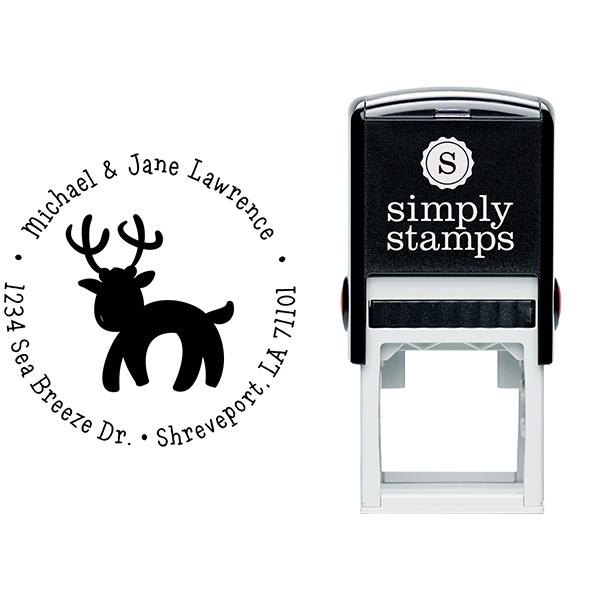 Lawrence Reindeer Return Address Stamp Body and Design