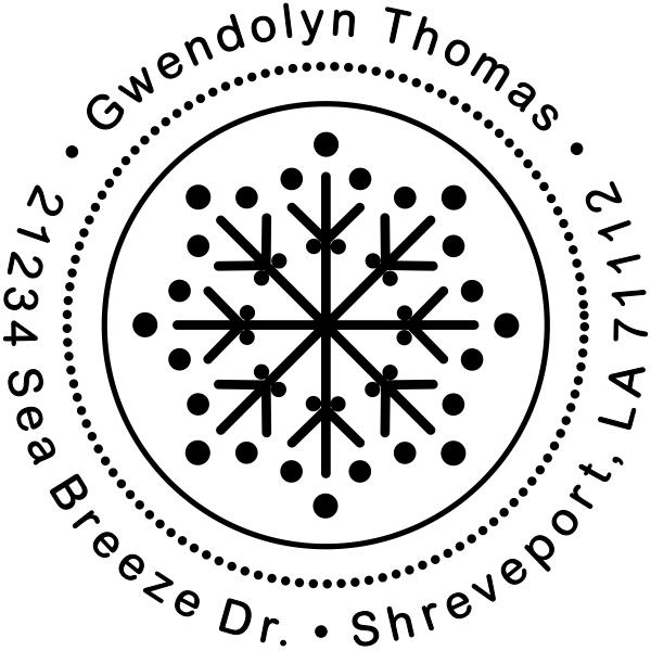 Winter Snowflake Custom Return Address Stamp