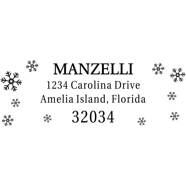 Winter Snowflake Return Address Stamper