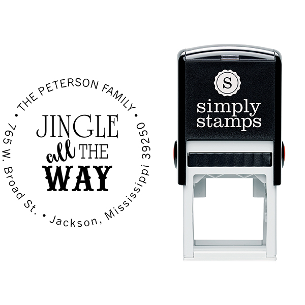 Jingle All The Way Return Address Stamp Body and Design