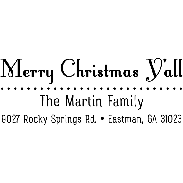 Merry Christmas Y'all Return Address Stamp