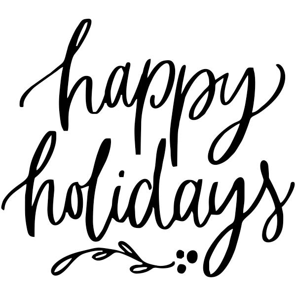 "Happy Holidays Craft Stamp   | 2"" x 2"""