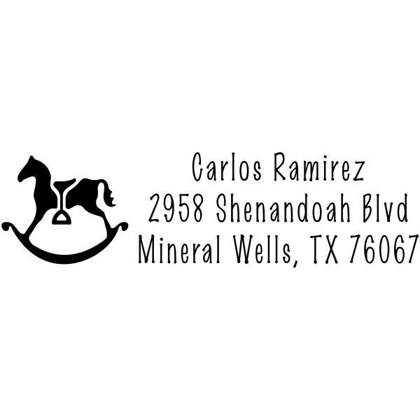 Rocking Horse Address Stamp