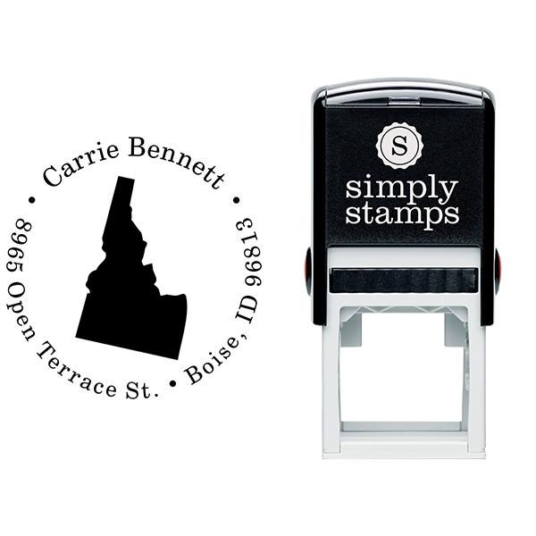 Idaho Round Address Stamp Body and Design
