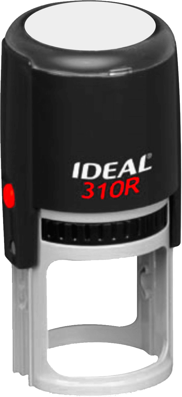 Ideal by Trodat 310R Round Stamp with Black Ink