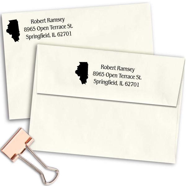Illinois Return Address Stamp Imprint Example