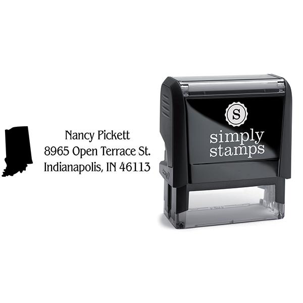 Indiana Return Address Stamp Body and Design
