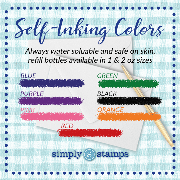 Self-Inking Ink Colors Available