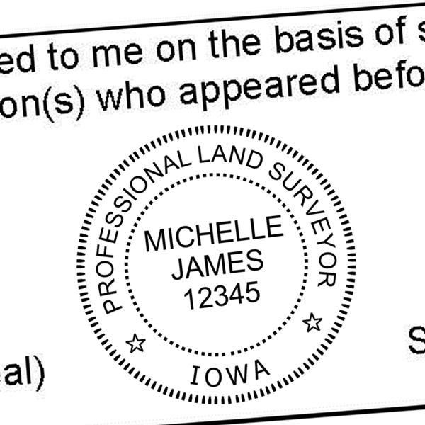 State of Iowa Land Surveyor Stamp Seal Seal Imprint3