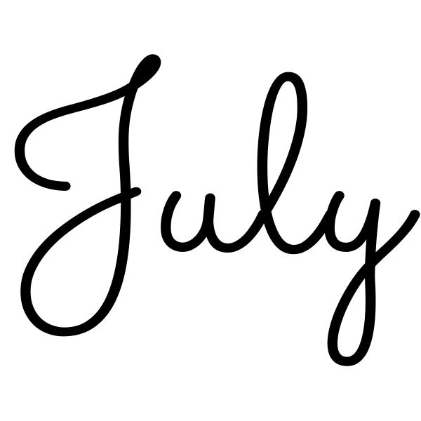 July Journal Stamp