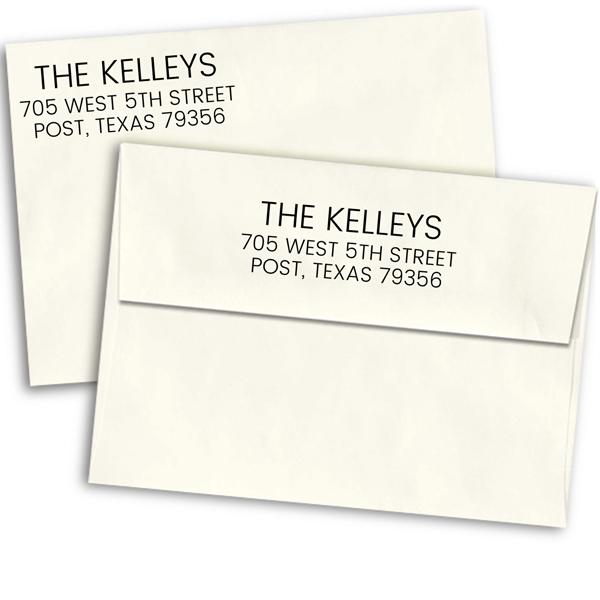 Kelley Custom 3 Line Address Stamp