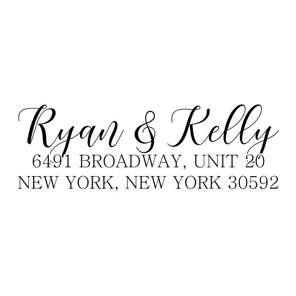 Kelly Script Address Stamp