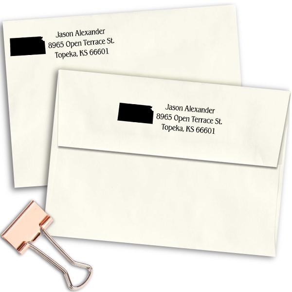 Kansas Return Address Stamp Imprint Example