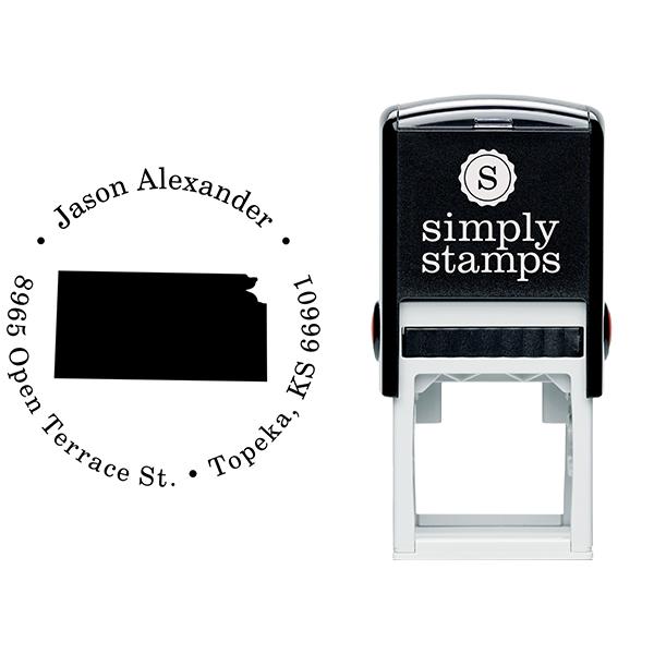 Kansas Round Address Stamp Body and Design